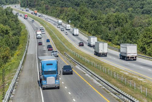 Fotografie, Obraz  Heavy Traffic On The Interstate Highway