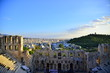 Odeon Herodes Atticus And Philopappus Hill