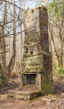 Ruins Of An Old Chimney In The...