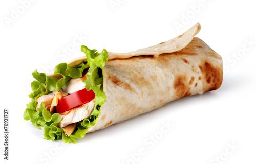Fotografie, Obraz  tortilla wrap, fajita