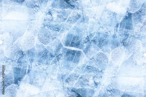 Vászonkép Baikal ice texture