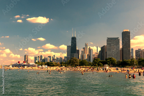 Poster Chicago North Avenue beach Chicago