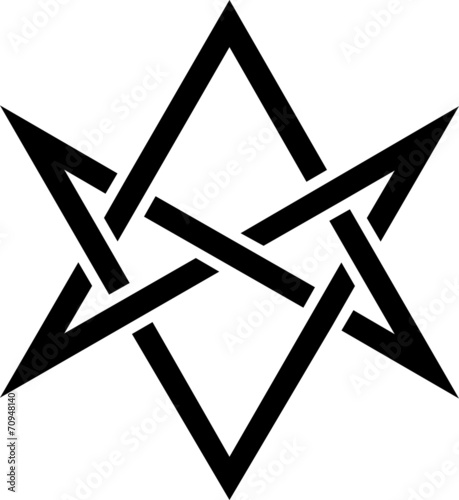 Unicursal Hexagram, Golden Dawn, Kabbalah Wallpaper Mural
