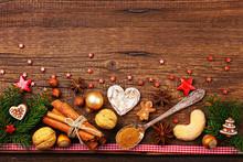 Weihnachtskarte - Vintage - Weihnachten - Holz