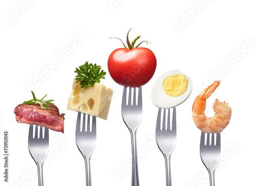 Printed kitchen splashbacks Fresh vegetables healthy and balanced food