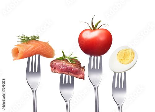 Printed kitchen splashbacks Fresh vegetables schmackhafte und gute ernährung