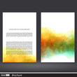 Brochure backgrounds with watercolors