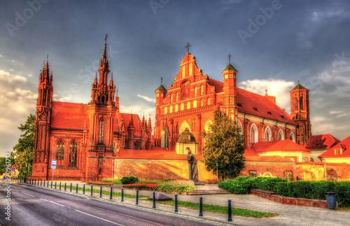 fototapeta na lodówkę Kościół św Franciszka z Asyżu w Wilnie, Litwa