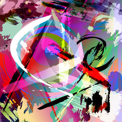 Obraz na Szkle abstract paint stroke composition, vector illustration