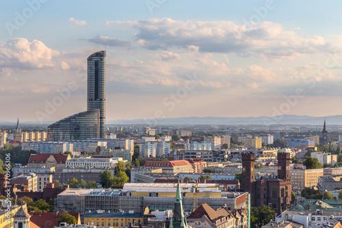 Sky Tower Wrocław Obraz na płótnie