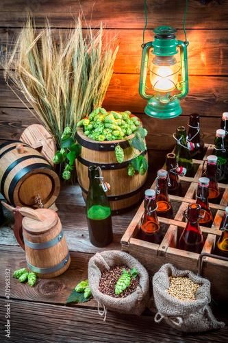 Fototapety, obrazy: Homemade beer stored in the cellar