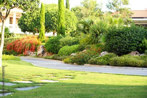 Papiers peints Jaune de seuffre Beautiful landscaping at park