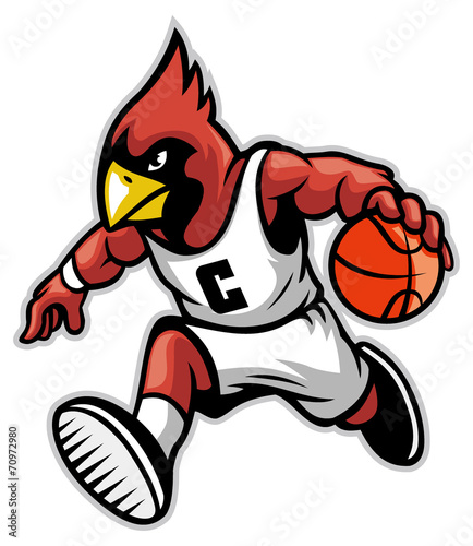Photographie cardinal as a basketball mascot