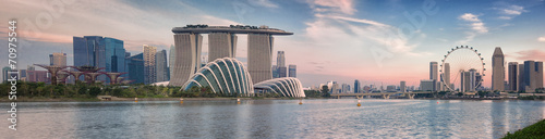 Spoed Foto op Canvas Singapore Landscape of the Singapore