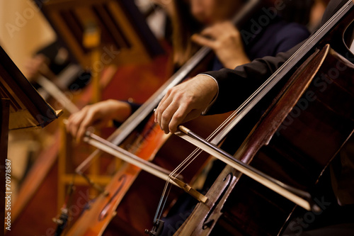Fotografia Hands of the man playing the cello