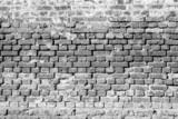 ancient brick wall of monochrome tone
