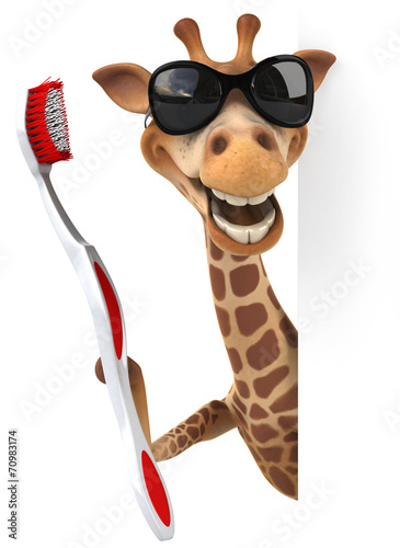 Fototapety, obrazy: Fun giraffe