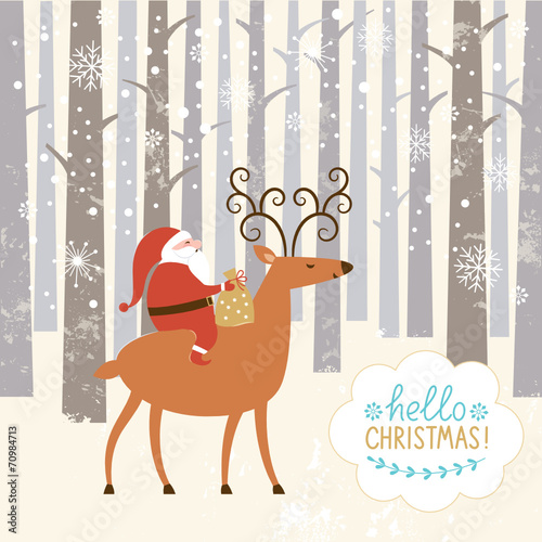 santa-goes-on-deer-the-winter-forest-christmas-background