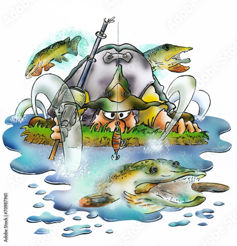 Photo  pike fishing