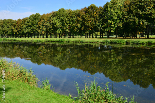 Deurstickers Groene France, the picturesque city of Maintenon