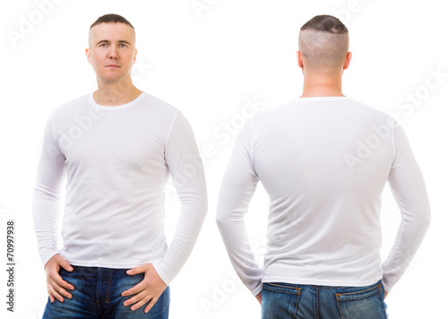 Fényképezés  boy in a white T-shirt