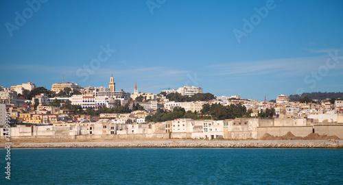 Papiers peints Maroc Tangier port panorama, Morocco, Africa