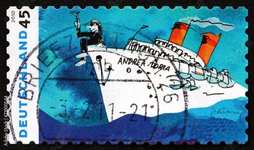 Fotografie, Obraz  Postage stamp Germany 2010 Andrea Doria, by Udo Lindenberg