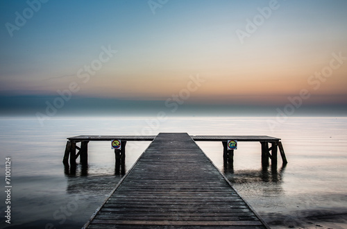 Sunrise at the pier in Sopot, Poland.  #71001124