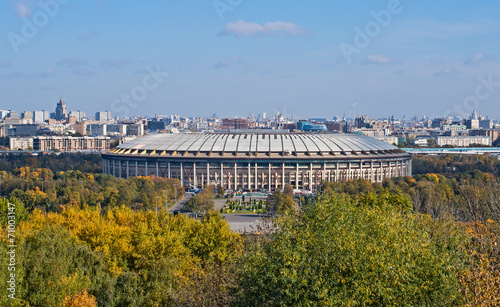 Poster Stadion Reconstruction of Luzhniki Stadium in Moscow