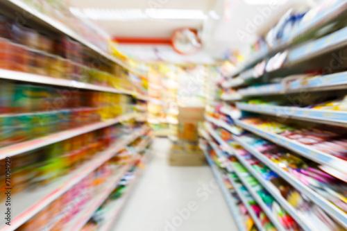 Fotografie, Obraz  Blurry convenience store