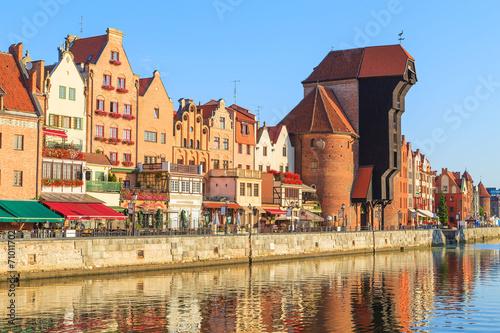 Foto auf AluDibond Stadt am Wasser Cityscape of Gdansk in Poland