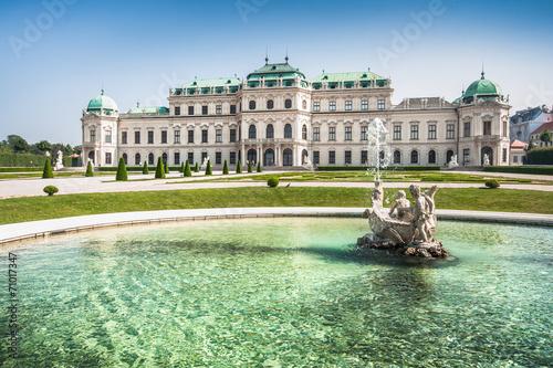 Garden Poster Vienna Schloss Belvedere in Vienna, Austria