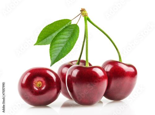 Fotografie, Obraz  cherries isolated