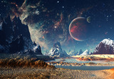 Fototapeta Fototapety kosmos - Alien Planet - 3D rendered computer artwork