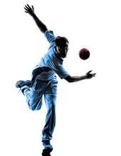 Pitcher Cricket Player  Silhou...