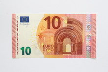 Vorderseite Neuer Zehn Euro Geldschein Aus Der Europa-Serie