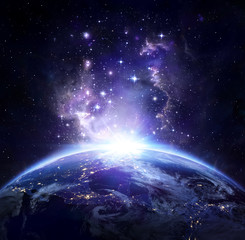 Fototapeta ziemia z kosmosu nad USA