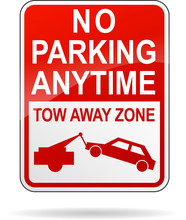 Vector No Parking Anytime Sign