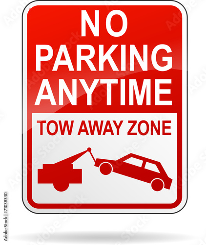 Vector no parking anytime sign Wallpaper Mural
