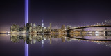 Fototapeta New York - Tribute lights pano