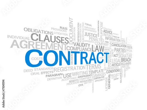 CONTRACT Tag Cloud (agreement terms and conditions signature) #71041194