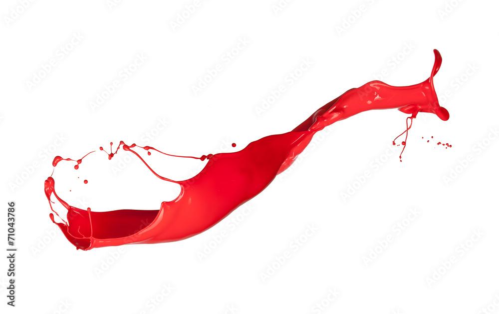 Fototapety, obrazy: Red splash isolated on white background