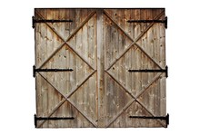 Old Barn Wooden Country Door Isolated On White