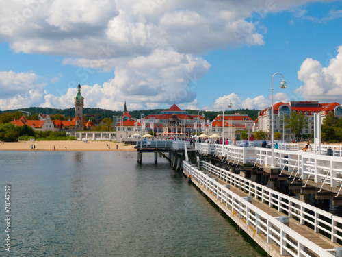 View from the pier at Sopot