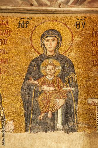 Foto op Plexiglas Wand The Comnenus mosaic