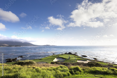 Photo sur Aluminium Golf Pebble Beach golf course, Monterey, California, USA