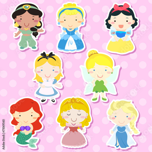lovely fairy tale characters set Fotomurales