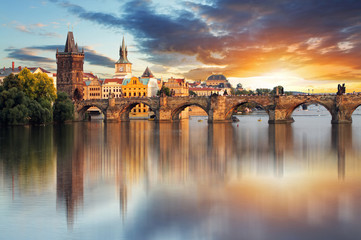 Obraz na SzklePrague - Charles bridge, Czech Republic
