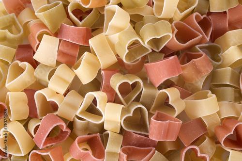 Fotografie, Obraz  heart pasta