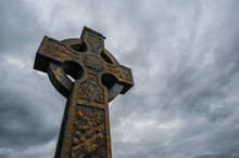 Celtic Cross Stormy Sky